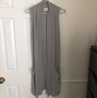 Aritzia Wilfred knit grey vest xxs
