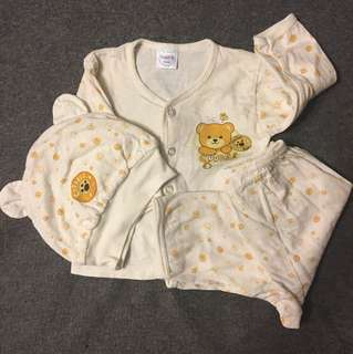 3 pc set baby clothing