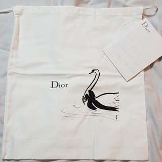 Authentic Lady Dior swan dustbag