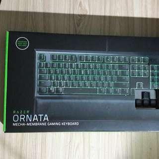 razer ornata 雷蛇雨林狼蛛 綠光版 薄膜半機械式鍵盤