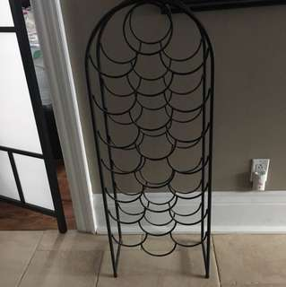 Black wine rack