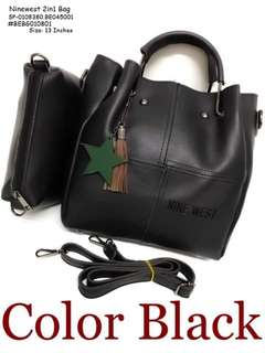 Ninewest 2in1 bag size : 13 inches with zipper