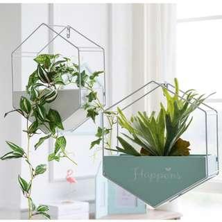 Creative Nordic Wall Decoration Geometric Hanging Rack Artificial Plants Decor