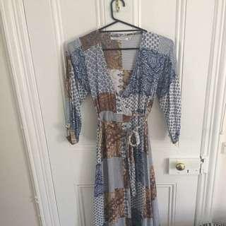 Faithful The Brand Long Patterned Dress