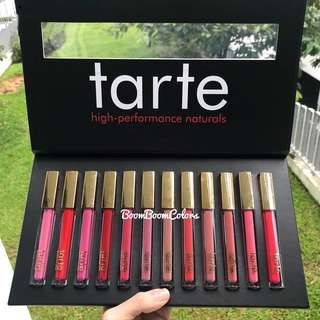 12 in 1 Tarte Matte Always On Liquid Lipstick high-performance naturals