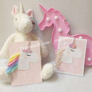 Handmade unicorn card