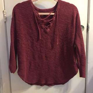 AE maroon sweater