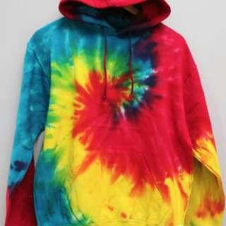tye die hoodie large