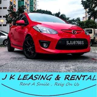 *FIRE RENTAL PROMO* MAZDA 2 HATCHBACK RENT RENTAL UBER GRAB PROMO