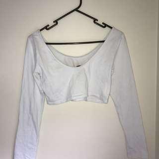 Croped white long sleeve