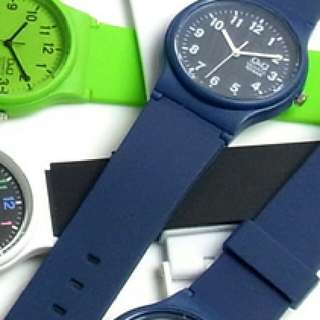 Q&Q Watch Light Blue, Navy