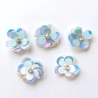 Blue Flowers Embellishments (5 for RM10)