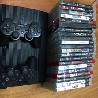 PS3 Slim With 20 Games