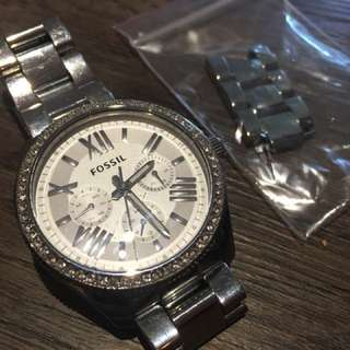 Women's Silver Stainless Steel Fossil Watch for sale