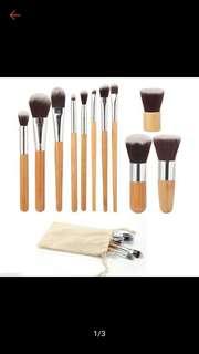 10+1 Bamboo MakeUp brush set