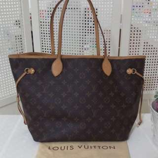 "LV neverfull MM monogram 2007 with dustbag ada hotstamp ""M"""