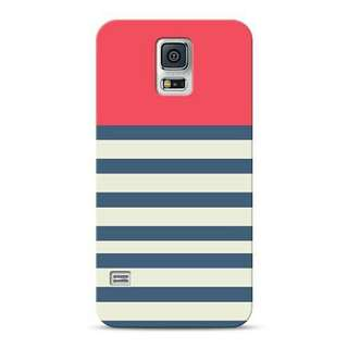 Navy Blue And Red Stripes Samsung Galaxy S5 Custom Hard Case