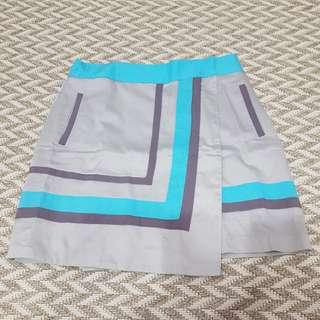Plains and Print Skirt
