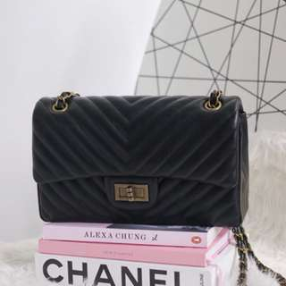 Chevron Bag in the style of Chanel