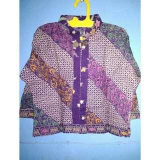 Outer batik ungu