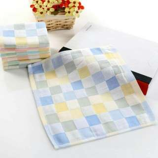 [Preorder Promo] Infant Baby Double Layer Gauze Handkerchirlef Kids Plaid Towel