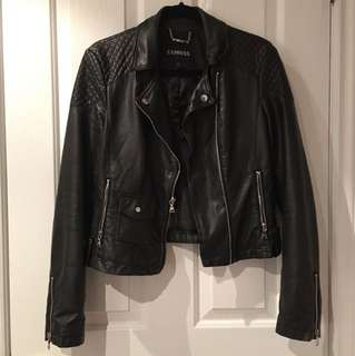 Express size small leather jacket