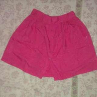 skort /rok celana/ pink merk details size M