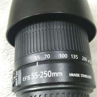 Canon 55-250 mm len.