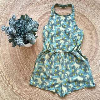 BNWOT Banana Leaf Playsuit
