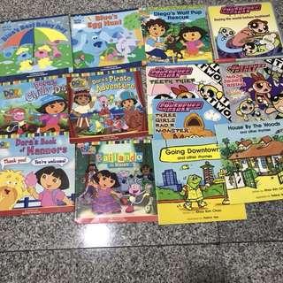 Clearance Sale: PowerPuff, Dora and Blue's Books