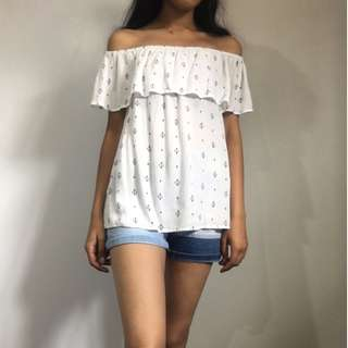 off the shoulder top - size 10