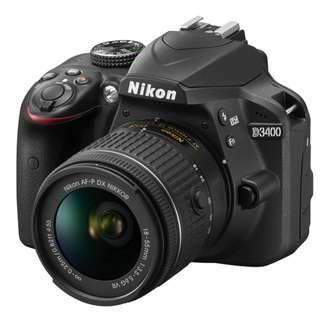 Brand New Nikon D3400 + 18-55mm Lens