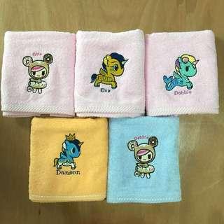Customised hand towel with tokidoki unicorno embroidery