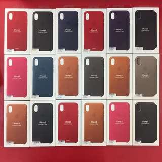 1月促銷 正原廠 Apple iphone X iX 原廠矽膠保護套 皮質背蓋 保護殼 背蓋 台灣公司貨 假一賠十