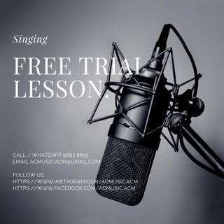 Singing Free Trial Lesson - by Alastar Chan (Private Coaching)