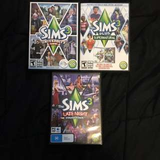 Sims 3 & expansion packs