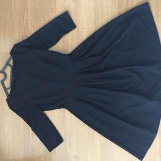 Black top shop dress