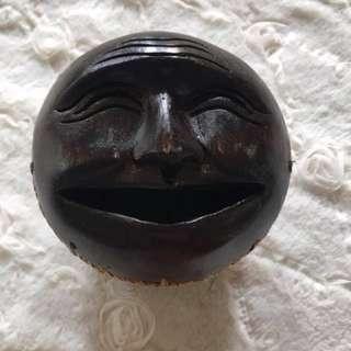 Hand carved tissue holder