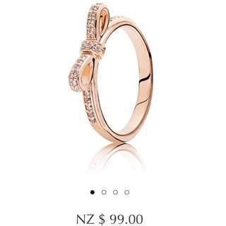 Pandora Rose Gold Bow Ring