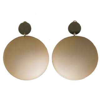 Torance gold plated round earrings