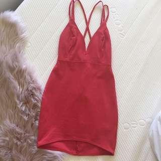 Mini Red Bodycon Dress