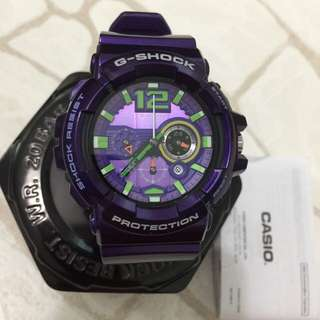 G-shock GAC-110 purple watch with can, box and manual
