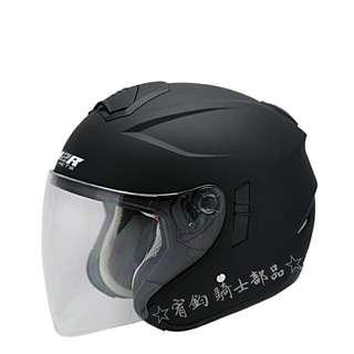 🚚 ☆宥鈞 騎士部品☆  M2R FR1 素色消光黑色 內置墨鏡 3/4罩式 安全帽