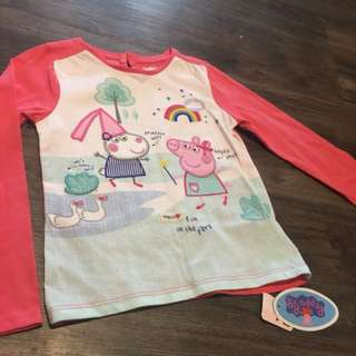 TM Peppa Pig long sleeve top Size 3/4 Years for sale