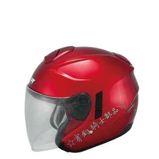 🚚 ☆宥鈞 騎士部品☆  M2R FR1 素色酒紅色 內置墨鏡 3/4罩式 安全帽