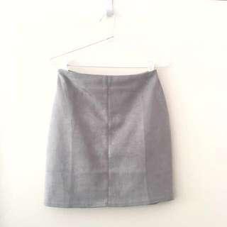 Faux Suede Skirt AU6-8