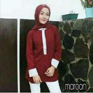 JANNA TOP baju atasan baju wanita panjang blouse muslim