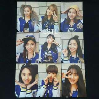 OFFICIAL TWICE Page Two - Selfie Version Photocards