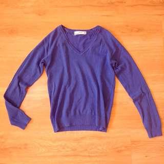 Zara: Royal Blue Long Sleeve Sweater (Free SF for Metro Manila)