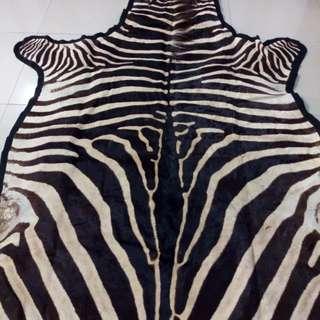 Karpet Kulit Zebra